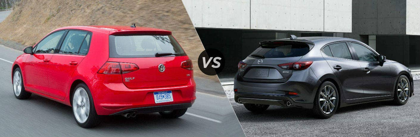 Golf vs Mazda3 Hatchback