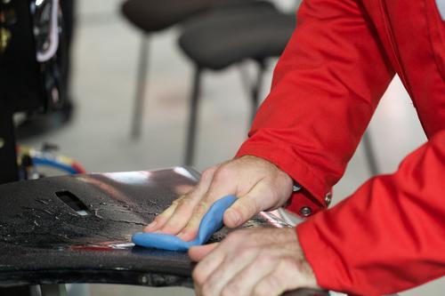 working polisher