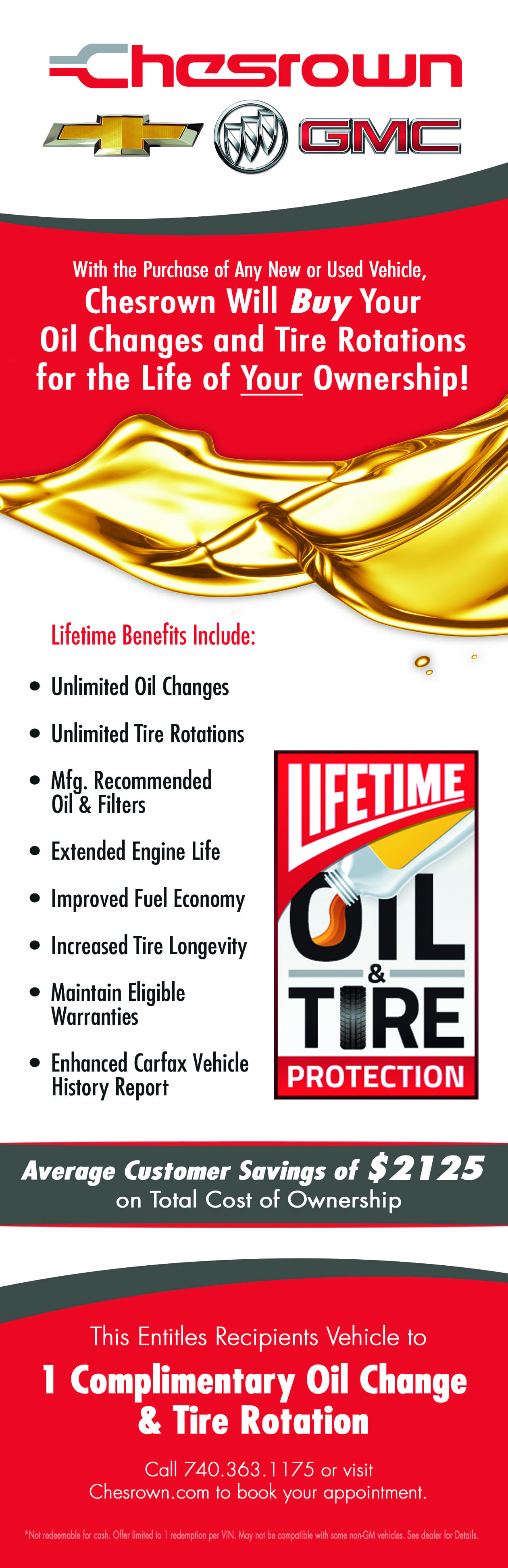 Oil and Tire Savings