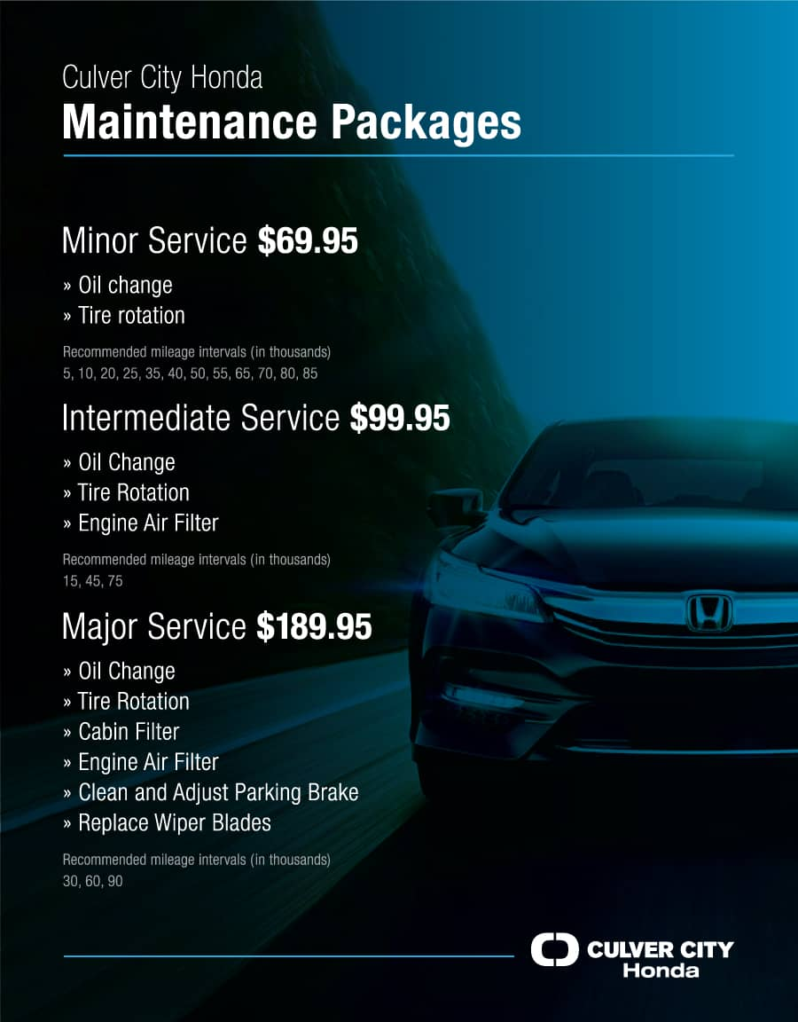 Culver City Honda Maintenance