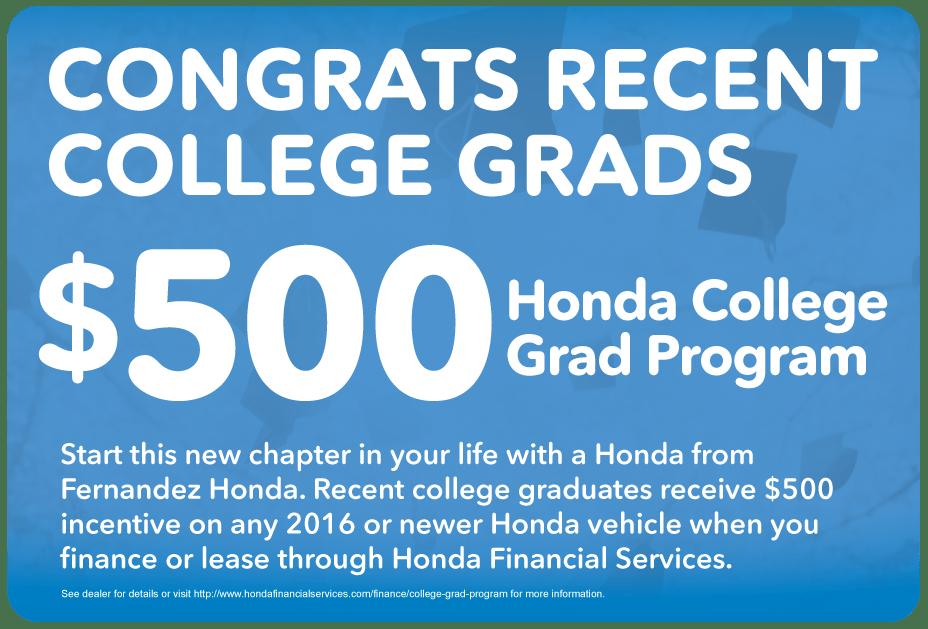 Honda Financial Services Payment >> Honda College Grad Program San Antonio, TX | Fernandez Honda