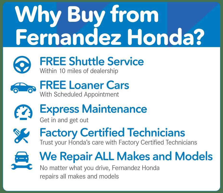 Why Buy From Fernandez Honda In San Antonio, TX?