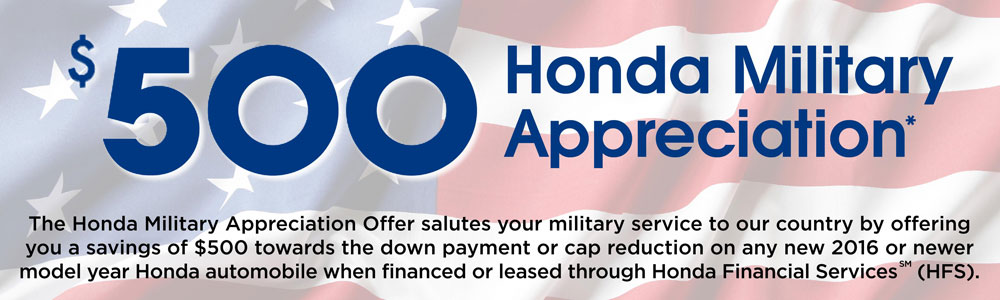 Honda Financial Services Payment >> Military Appreciation Offer Hillside Honda