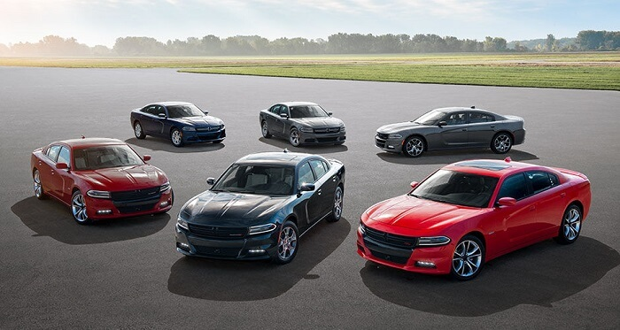 Six Dodge Chargers