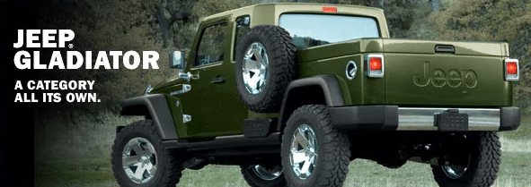 Jeep Announces The Jeep Gladiator Pickup Truck Concept