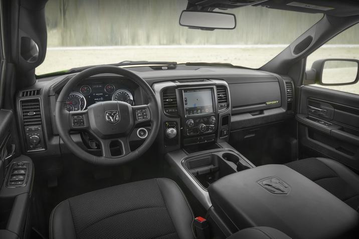 interior truck snow