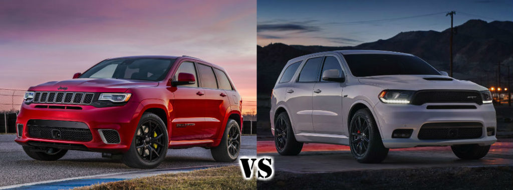 2018 Jeep Grand Cherokee Trackhawk Vs 2018 Dodge Durango