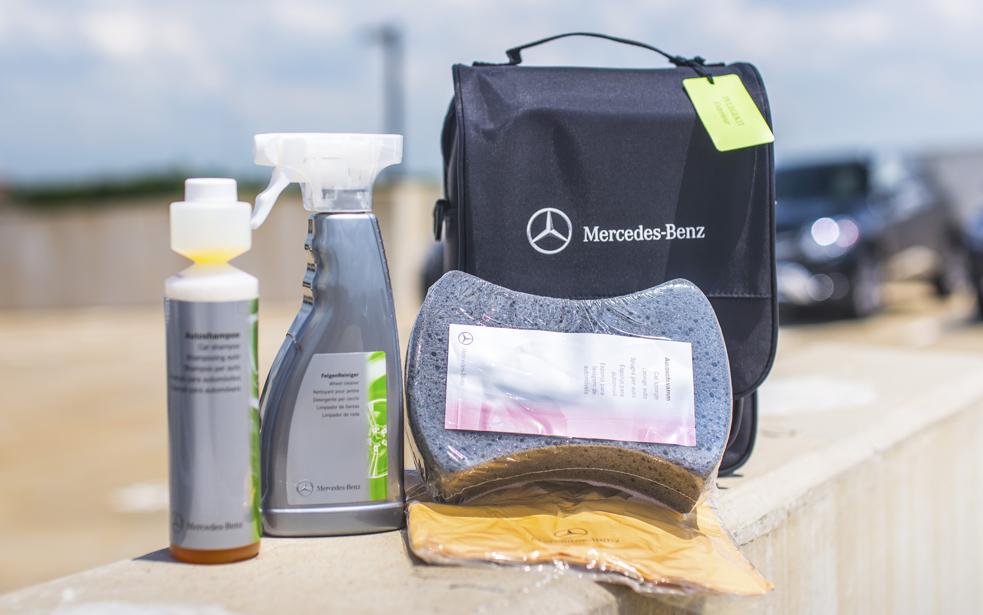 Make it shine with superior car care mercedes benz of for Mercedes benz exterior car care kit