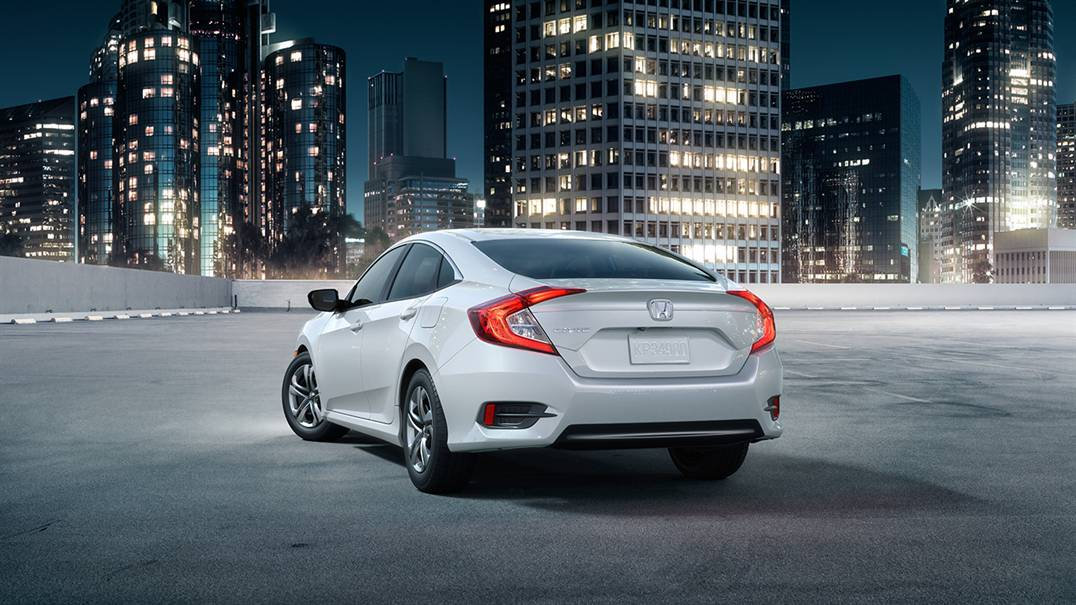 2016 Honda Civic White Rear