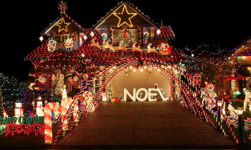 Holiday light shows and displays