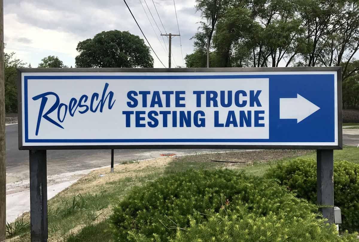 testing-lane-sign