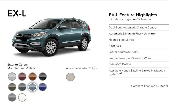Honda CRV-EX-L