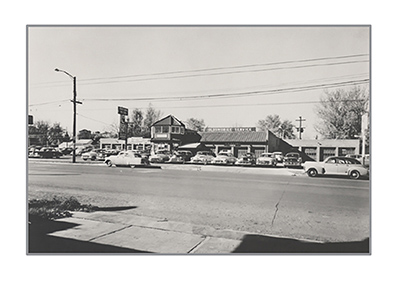 Dealership Picture Black and White