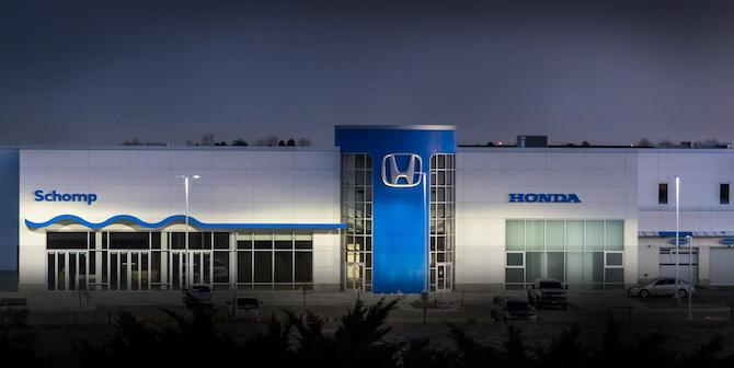 Schomp Honda Facility at Night