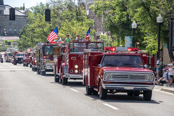 Parade of Firetrucks