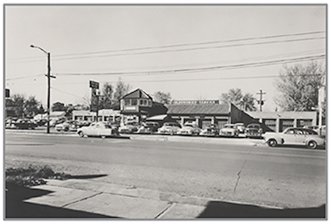 Black and White dealership photo