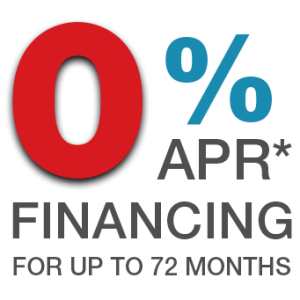 0% APR - Up to 72 months