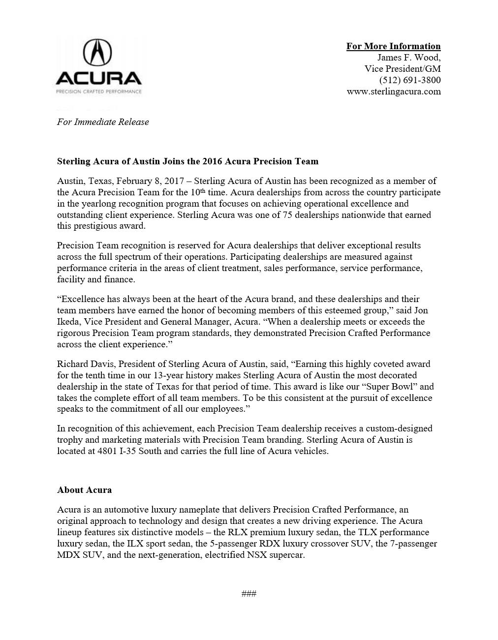 Award Letter