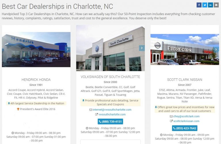 Volkswagen of South Charlotte Listed as a Top 3 Dealership in