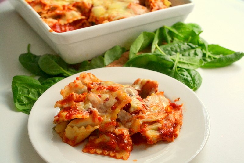 Easy Cheesy Ravioli Bake