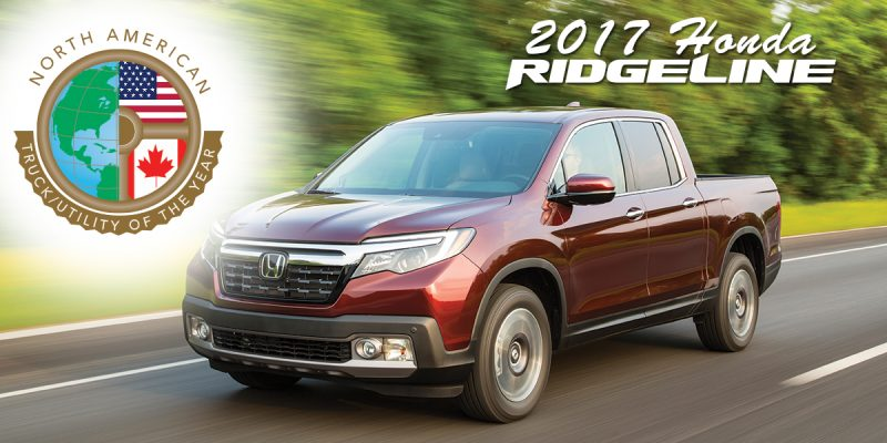 2017 Honda Ridgeline Named North American Car Of The Year